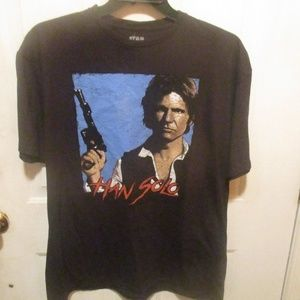 Star Wars Han Solo Graphic T-Shirt Black Size XXL